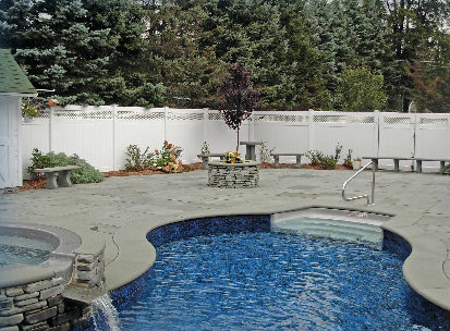 Blue Thermal Finish Pool Coping & Deck