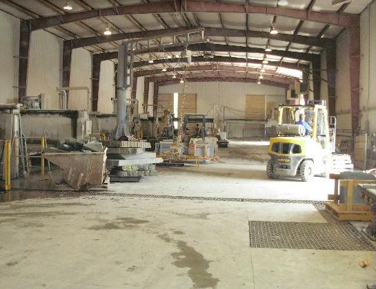 The main stone fabrication facility at East Branch NY