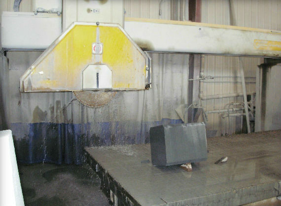 One of the precision cut dimensional diamond saws