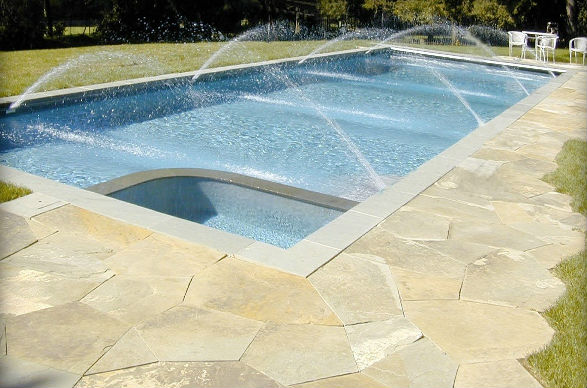 Full Color Natural Cleft Irregular Flagging Pool Decking