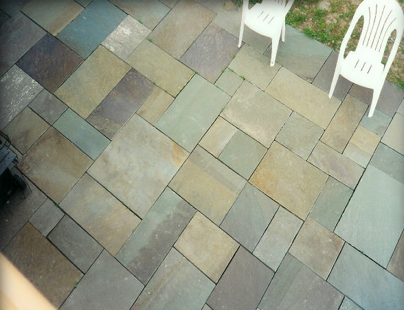 Full Color Natural Cleft Multiple Pattern Flagstone