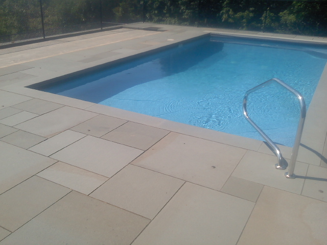 Variegated Thermal Decking & Thermal Coping