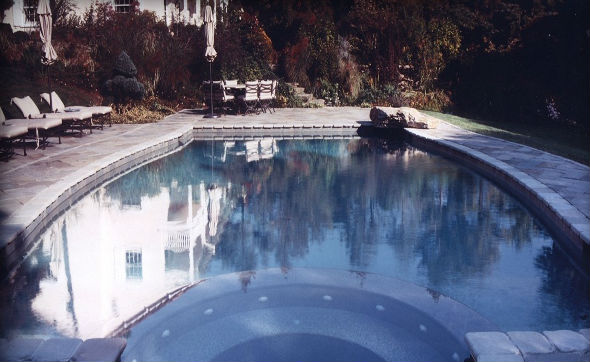 Tumbled Pool & Spa Coping, Natural Cleft Full Color Decking